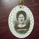 Jennie Wade Oval two-sided Porcelain Ornament