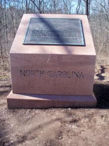 26th North Carolina Infantry monument