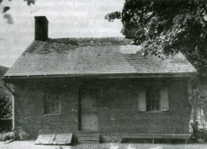 old black & white photo of the jennie wade house