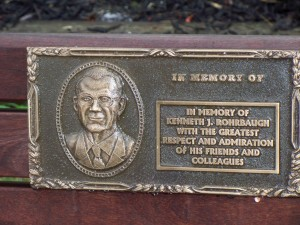 Ken Rohrbaugh memorial plaque