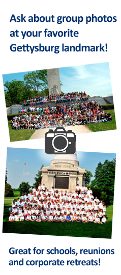 Large Groups at 2 different Gettysburg Landmarks