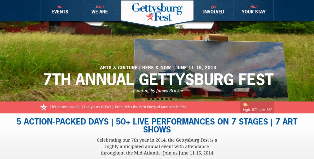 Gettysburg Fest Homepage
