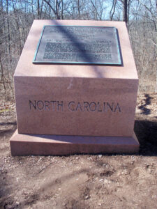 26th North Carolina Infantry monument
