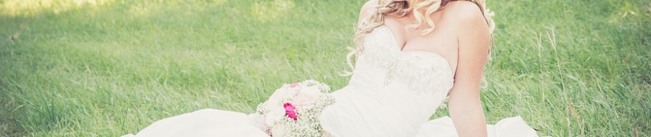 bride in grass