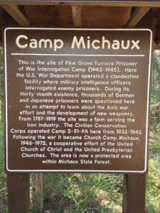 Camp Michaux Sign