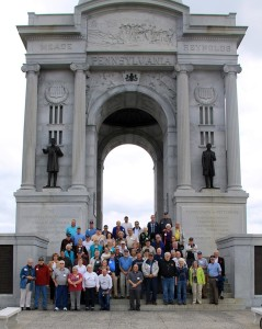 group in front of pa monument