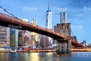 New York bridge & skyline