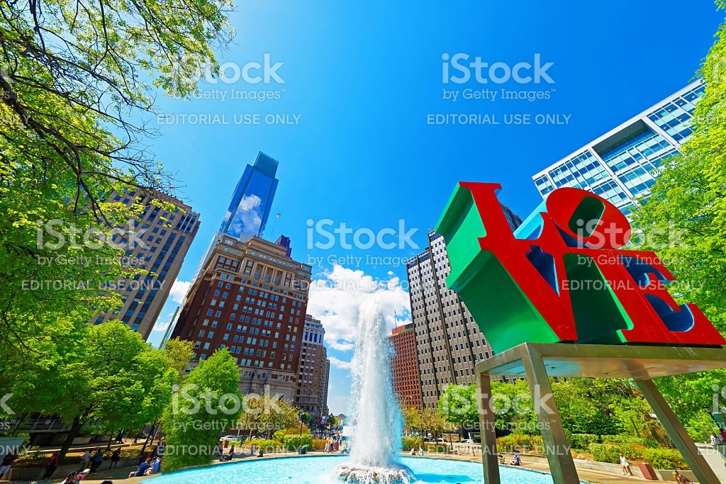 Philadelphia city & LOVE statue