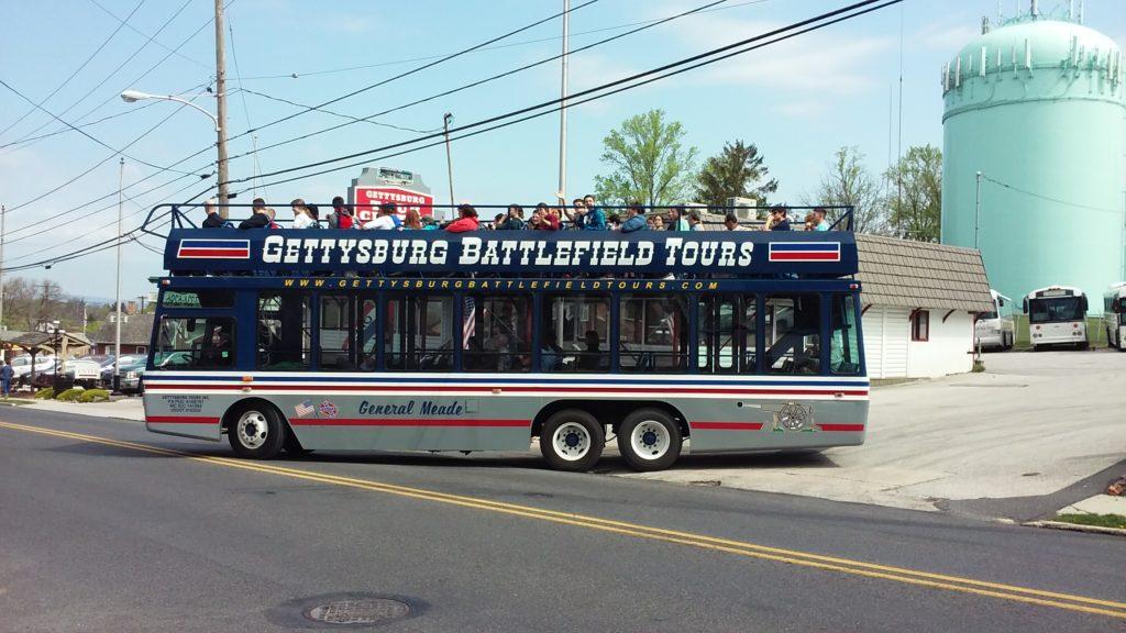 gettysburg battlefield tours bus leaving for a tour