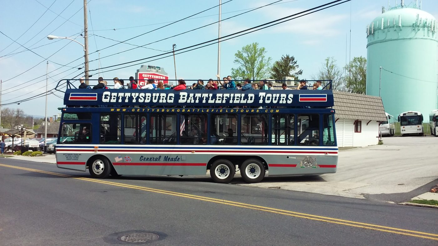 gettysburg battlefield tours bus leaving for a tour