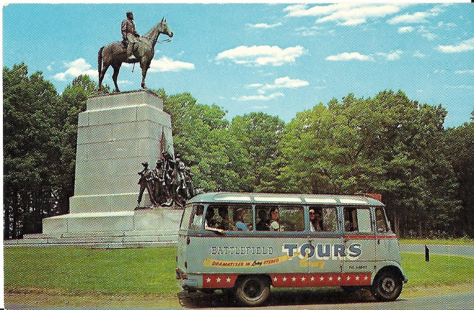 gettysburg tour bus in mid 1900s