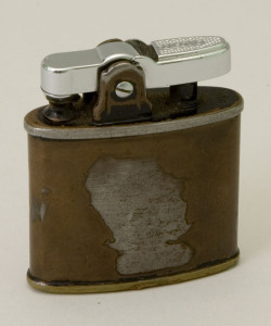 Army-issued cigarette lighter carried by Gen. Eisenhower in World War II. Courtesy Eisenhower National Historic Site.