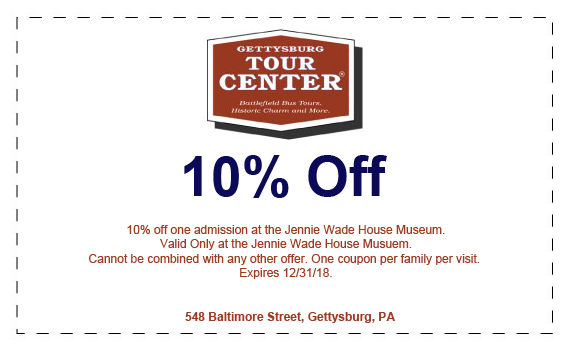 10% off Jennie Wade House Museum coupon