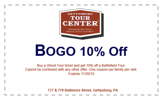 10% battlefield bus tour coupon