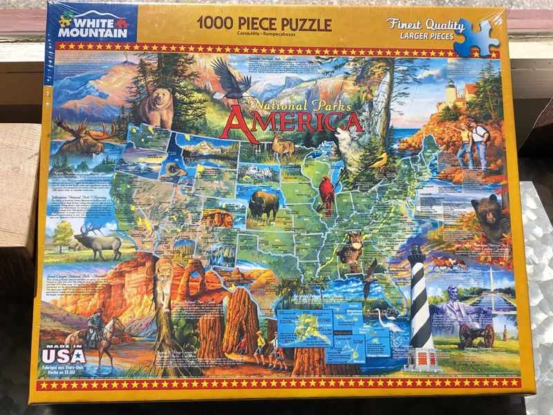 National Parks America puzzle box