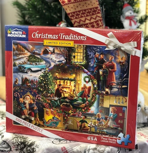 Christmas puzzle gift