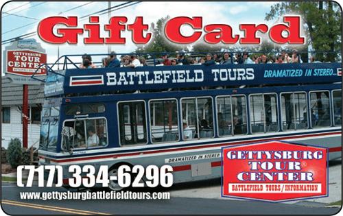 Gettysburg tour gift card