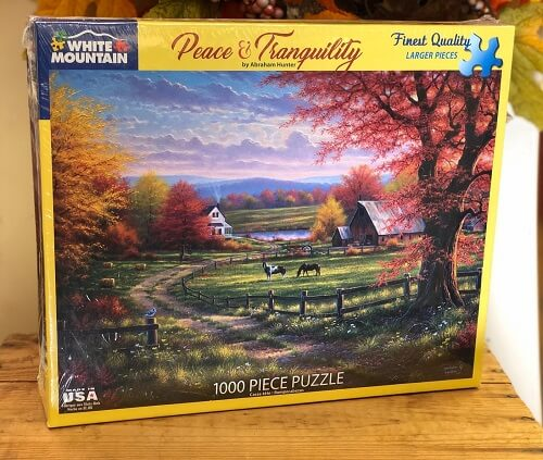 puzzle of peaceful scenery