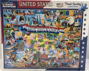 United States of America 1000 piece puzzle box